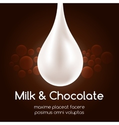 Milk drop and black chocolate wallpaper vector image