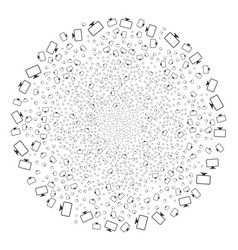 monitor fireworks sphere vector image