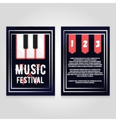 Music festival brochure flier design template vector image