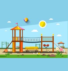 Playground city park vector