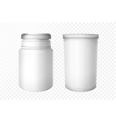 realistic medical bottles set vector image