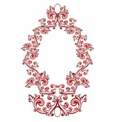 red floral frame vector image