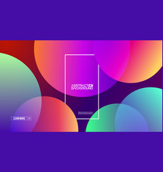 retro abstract presentation template with colorful vector image