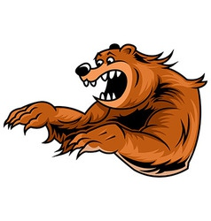 roar bear vector image