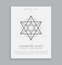 sacred geometric shapes vector image