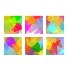 Set of abstract colorful geometric polygonal vector image