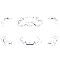 set of decorative pen strokes vector image