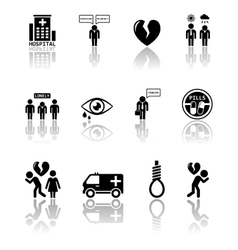 set of mental health icons vector image