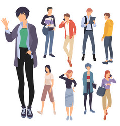 Set people characters vector