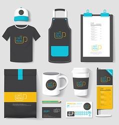 set restaurant and coffee shop uniform corporat vector image