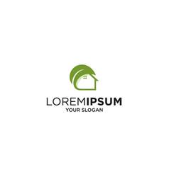 simple leaf house logo vector image
