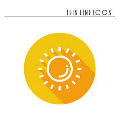 sun line simple icon weather symbols meteorology vector image