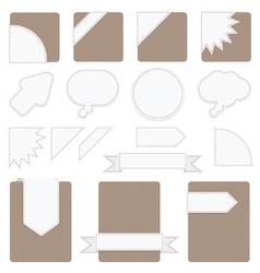 tabs set vector image