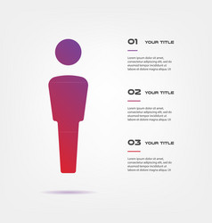 target infographics step by step element of chart vector image