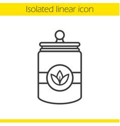 Tea jar linear icon vector