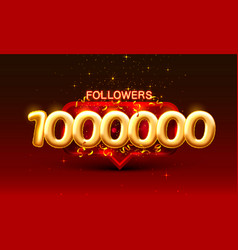 Thank you followers peoples 1000k online social vector