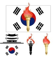The Olympics in Korea vector