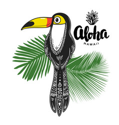 toucan print for apparel cards posters vector image