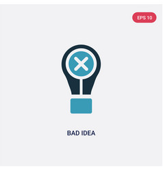 Two color bad idea icon from user interface vector