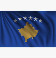 Waving kosovo vector