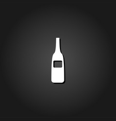 wine bottle icon flat vector image