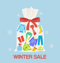 winter gifts sale and discount vector image