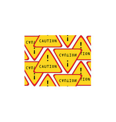 caution sign pattern seamless vector image