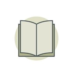 Creative colorful book icon vector image