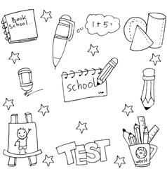 Doodle of school hand draw vector image