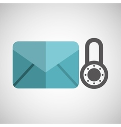 envelope message email padlock security icon vector image vector image