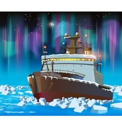 icebreaker at night vector image