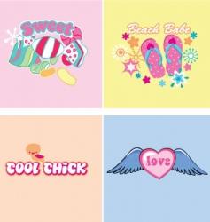 kids graphics vector image vector image