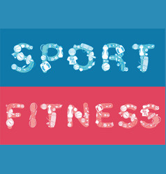 sketch fitness horizontal banners vector image vector image