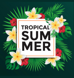 tropical poster 3 vector image