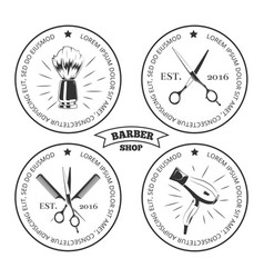 barber shop labels isolated on white background vector image vector image
