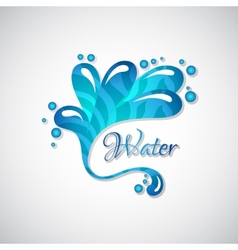 Business logo of blue water splatter web icon vector image vector image