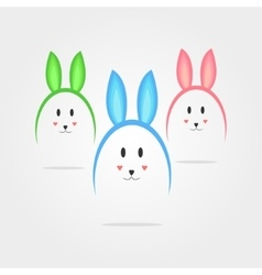 eggs in the form of rabbits vector image vector image