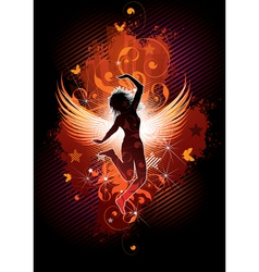flying girl vector image