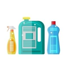 Household chemistry cleaning plastic bottles vector image vector image