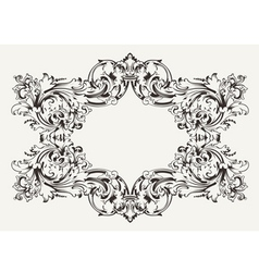 Old Antique High Ornate Frame vector image vector image