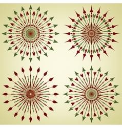 Set of arrow sunbursts vector image vector image