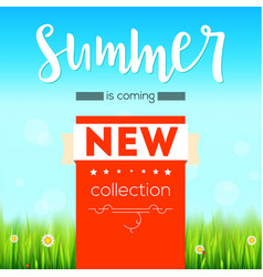 summer new collection bright advertising banner vector image vector image