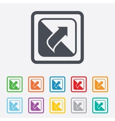 Turn page sign icon peel back sheet corner vector