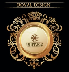 vintage royal design element vector image