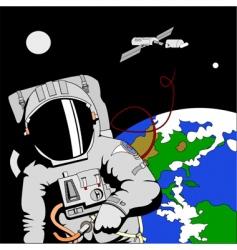 astronaut in space vector image vector image