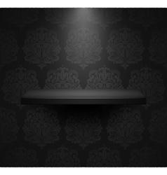 Dark empty isolated shelf vector image