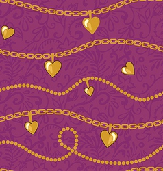 golden chains pattern vector image vector image