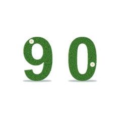 Grass numbers 9-0 vector image
