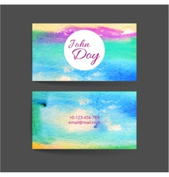 Set of two creative business card vector image vector image