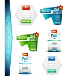 Set of web boxes vector image